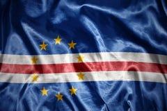 светя флаг Кабо-Верде Стоковые Изображения RF