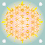 Светя цветок жизни Стоковое Изображение RF