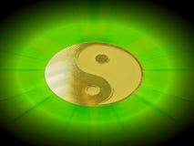 светя yin yang стоковые изображения