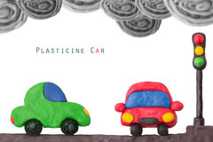 Свет автомобиля пластилина стоковая фотография