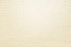 Светлая бежевая предпосылка текстуры кирпичной стены grunge Стоковые Фотографии RF