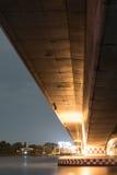 Светлая выставка и тень нижнего моста, Таиланда стоковое изображение