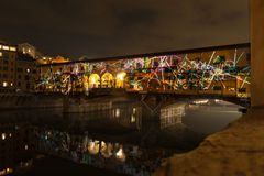 Светлая выставка на vecchio Ponte Стоковое Изображение RF