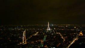 Светлая выставка представления в Париже, Франция, акции видеоматериалы