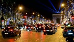 Светлая выставка представления в Париже, Франция, видеоматериал