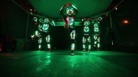 Светлая группа выставки сток-видео