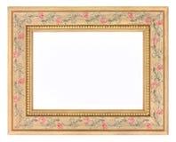 Светлая деревянная картинная рамка Стоковое Изображение RF