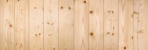 Светлая деревянная предпосылка панели, панорама Стоковые Изображения RF
