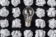 светлая и скомканная бумага Стоковое Изображение RF