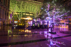 Светлая иллюстрация на комплексе центра города Roppongi Стоковое фото RF
