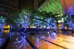 Светлая иллюстрация на комплексе центра города Roppongi Стоковое Изображение