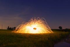 Светлая картина с стальными шерстями Стоковое Фото