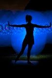 Светлая картина - танцор стоковое изображение rf
