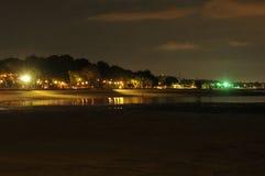 Светлая ноча пляжа стоковое изображение