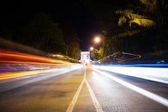 Светлая долгая выдержка следа Стоковое фото RF