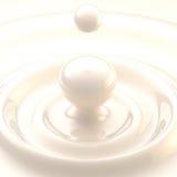Светлая предпосылка: падение жидкости сливк или молока иллюстрация вектора