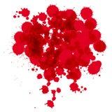 Светлая темнота - красный выплеск на белой предпосылке также вектор иллюстрации притяжки corel Иллюстрация вектора
