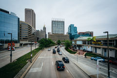 Светлая улица, в внутренней гавани Балтимора, Мэриленд Стоковые Изображения RF