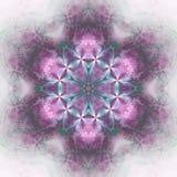 Светлая флористическая мандала Стоковые Фотографии RF