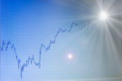 свет валют конца диаграммы растущий стоковые изображения rf