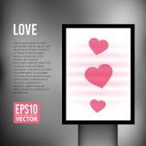 Свет вертикали валентинки сердца влюбленности вектора иллюстрация вектора