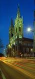 свет вечера церков Стоковая Фотография