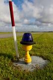 Свет взлётно-посадочная дорожки стоковая фотография