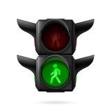 Свет движения пешеходов Стоковая Фотография RF