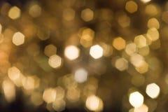 свет влияния предпосылки золотистый Стоковые Фотографии RF