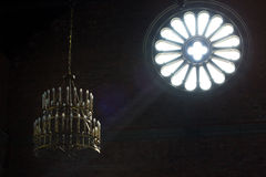 Свет внутри церков, мистический момент Стоковое Изображение