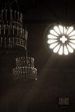 Свет внутри церков, мистический момент Стоковая Фотография