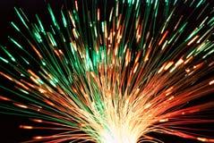 Свет волокна в зеленой и красной стоковая фотография