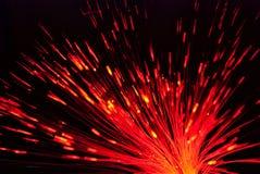 Свет волокна в красном цвете стоковые фотографии rf