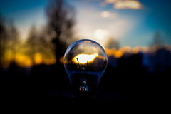 Свет в лампе Стоковое Изображение