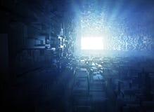 Свет в конце тоннеля иллюстрация штока