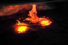 Свет в фонтане Стоковое Изображение