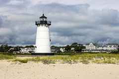 Свет гавани Edgartown, виноградник ` s Марты, Массачусетс Стоковое фото RF