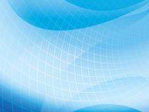 Свет - голубая волнистая предпосылка с решеткой - вектор Стоковое Изображение RF