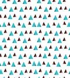 Свет - голубой вектор малых треугольников на whitebackground Стоковые Изображения RF