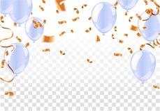 Свет - голубые воздушные шары, иллюстрация вектора , Иллюстрация вектора иллюстрация штока
