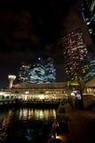 Город Сингапур ночи Стоковое Изображение