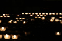 свет горящей свечи Стоковые Изображения