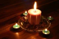 свет горящей свечи Стоковое Изображение