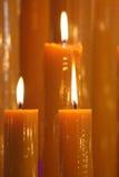 свет горящей свечи стоковое фото