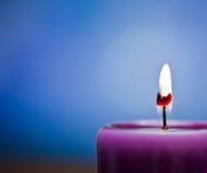 свет горящей свечи Стоковое Изображение RF