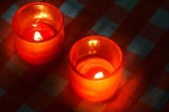 свет горящей свечи Стоковые Изображения RF