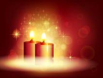 Свет горящей свечи Стоковая Фотография