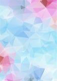 Свет - голубая абстрактная полигональная предпосылка Стоковая Фотография RF