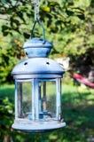Свет - голубая лампа свечи сада Стоковая Фотография