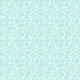 Свет - голубая безшовная картина с bac океана раковин Стоковые Фото